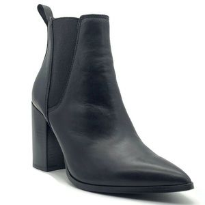 Steve Madden Knock Pointed Toe Leather Bootie